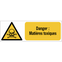 Panneaux ISO 7010 horizontaux Danger Matières toxiques - W016