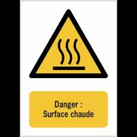 Panneaux NF EN ISO 7010 A3/A4/A5 Danger Surface chaude - W017