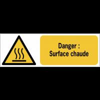 Panneaux ISO 7010 horizontaux Danger Surface chaude - W017