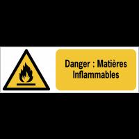 Panneaux ISO 7010 horizontaux Danger Matières Inflammables - W021