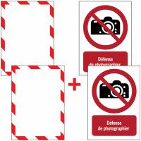 Porte-documents adhésifs à fermeture magnétique Interdiction de photographier