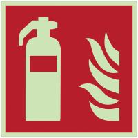 Autocollants et panneaux photoluminescents NF ISO 7010 Extincteur d'incendie - F001