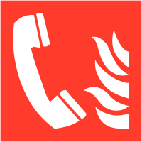 Panneaux en drapeau et tridimensionnels NF EN ISO 7010 Téléphone à utiliser en cas d'incendie