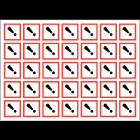 Autocollants CLP haute résistance en planche Toxicité aigüe catégorie 4 - GHS07