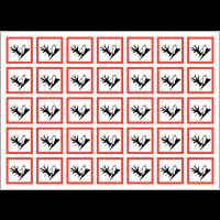 Autocollants CLP haute résistance en planche Danger pour le milieu aquatique - GHS09