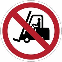 Pictogrammes NF EN ISO en aluminium Interdit aux chariots élévateurs à fourches