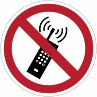 """Panneaux autocollants Quick-Fix """"Interdit d'activer des téléphones mobiles"""""""
