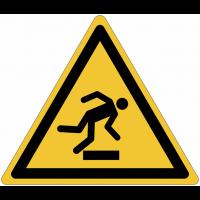 Pictogrammes NF EN ISO en aluminium Danger trébuchement - W007