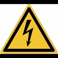 """Pictogramme adhésif """"Danger électricité"""" en PVC semi-rigide"""