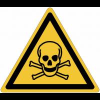 Pictogrammes NF EN ISO en aluminium Danger matières toxiques - W016