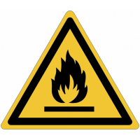 Pictogrammes NF EN ISO en aluminium Danger matières inflammables - W021