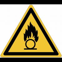 Pictogrammes NF EN ISO en aluminium Danger substances comburantes - W028
