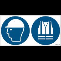 Pictogrammes ISO 7010 Casque et Gilet Hi-viz obligatoires