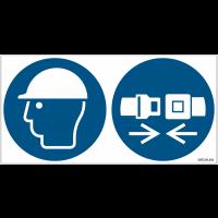 Pictogrammes ISO 7010 Casque & Ceinture de sécurité obligatoires