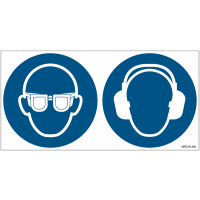 Pictogrammes ISO 7010 Lunettes & serre tête antibruit obligatoires