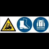 Pictogrammes combinés ISO 7010 pour entrepôt