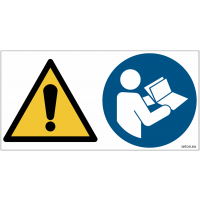 Pictogrammes ISO 7010 Danger & Consulter manuel