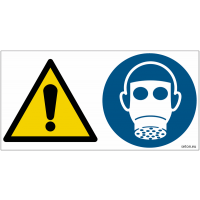Pictogrammes ISO 7010 Danger & Masque à gaz obligatoire