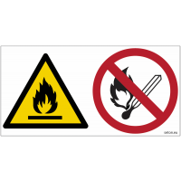 Pictogrammes ISO 7010 Danger inflammable, flammes nues interdites