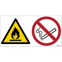 Pictogrammes ISO 7010 Danger inflammable, ne pas fumer