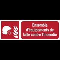 Panneaux ISO 7010 d'incendie à message horizontal - Ensemble d'équipements de lutte contre l'incendie