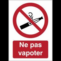 Panneaux et autocollants interdiction de vapoter avec texte - Ne pas vapoter