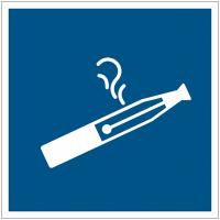 Panneaux et autocollants « autorisation de vapoter »