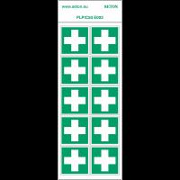 """Pictogrammes en planche NF EN ISO 7010 """"Premiers secours"""" E003"""