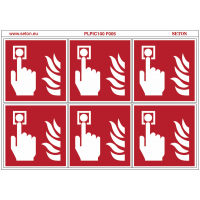 "Pictogrammes en planche NF EN ISO 7010 ""Point alarme Incendie"" F005"