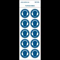 """Pictogrammes en planche NF EN ISO 7010 """"Serre-tête anti bruit obligatoire"""" M003"""