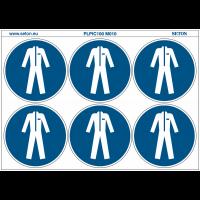 """Pictogrammes en planche NF EN ISO 7010 """"Vêtements de protection obligatoires"""" M010"""