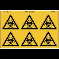 """Pictogrammes en planche NF EN ISO 7010 """"Danger risque biologique"""" W009"""