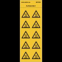"""Pictogrammes en planche NF EN ISO 7010 """"Danger Surface Chaude"""" W017"""