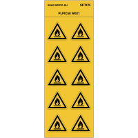 "Pictogrammes en planche NF EN ISO 7010 ""Danger Matières inflammables"" W021"