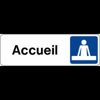 Signalétique de porte horizontale - Accueil