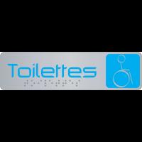 Plaque de signalisation pour toilettes en braille avec pictogramme