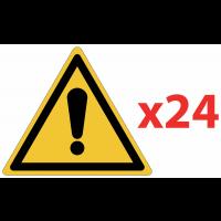 Prix Spécial - Pack de pictogrammes autocollants ISO 7010 Danger général W001