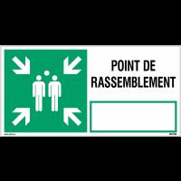 """Panneaux d'évacuation NF EN ISO 7010 """"Point de rassemblement"""""""