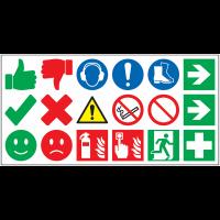 Planche de 18 symboles