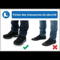 Autocollants et panneaux  bonnes pratiques - Portez des chaussures de sécurité