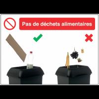 Autocollants et panneaux bonnes pratiques - Pas de déchets alimentaires