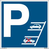 Panneaux obligation de stationner en marche arrière - Matériau PVC