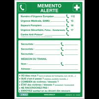 """Poster """"Alerte Premiers secours"""" plastifié en format A3"""