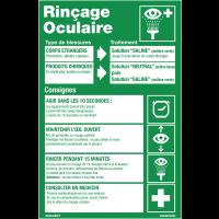 """Poster """"Rinçage oculaire"""" plastifié en format A3"""