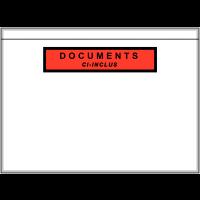Pochettes d'expédition adhésives format bordereau (avec texte)