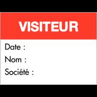 """Badge adhésif """"Visiteur"""""""