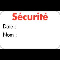 """Badges adhésifs en satin """"Visiteur"""""""