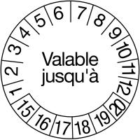 Pastilles calendrier rondes gravées au laser