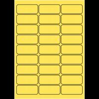 Etiquettes en polyester jaune pour imprimante Laser
