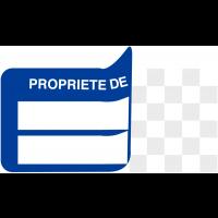 """Etiquettes auto-laminantes Seton-Seal infalsifiables """"Propriété de"""""""